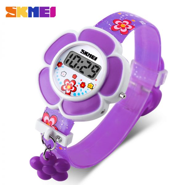 flowers digital watches for girls