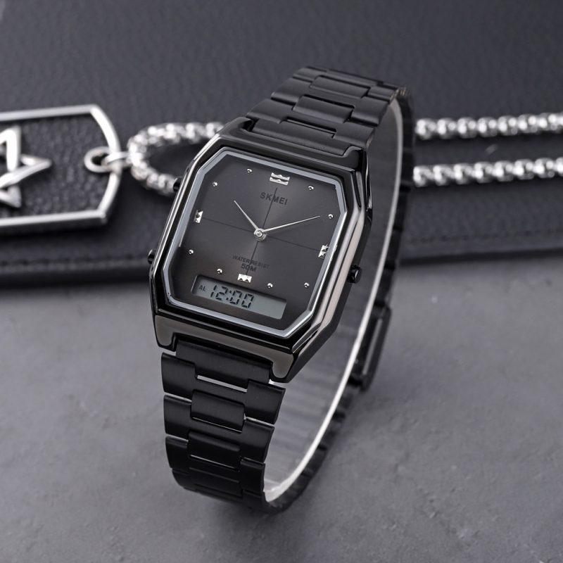matal analog digital watch