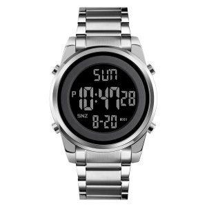 1611 metal digital watch big wristwatch