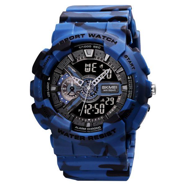 analog digital sports watch