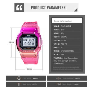 SKMEI Rainbow digital watch sports wristwatches men