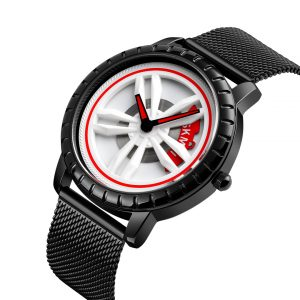 car wheel hub design wristwatch quartz watch