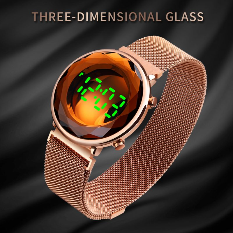 gemstone LED watch for women