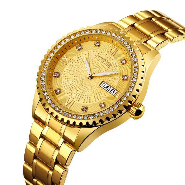 golden mechanical watch
