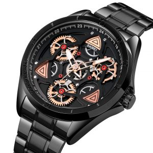 toothed gear dial men watch