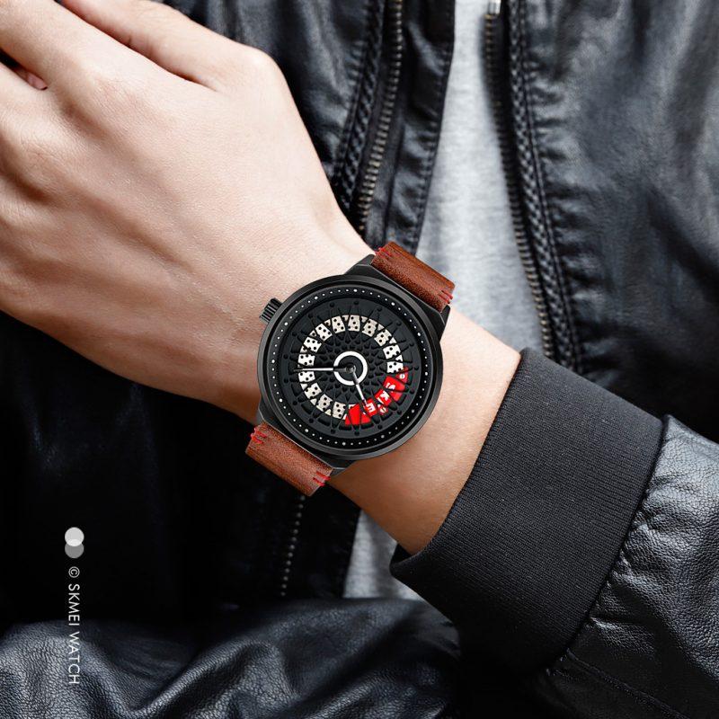 wheel hub watch dial quartz wristwatch