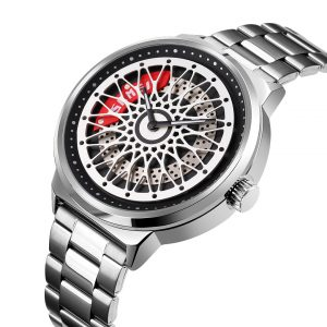 wheel hub watch dial quartz wristwatch