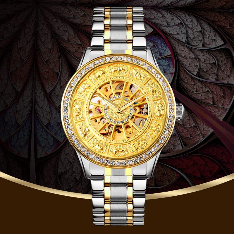 automatic mechanical wrist watch