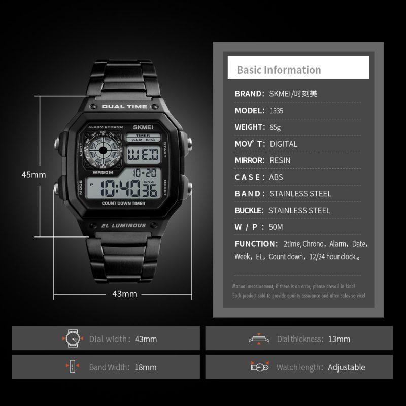 man digital watches