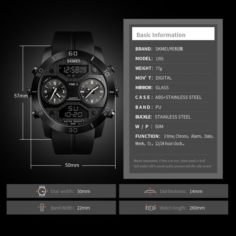 digital analog mens watch