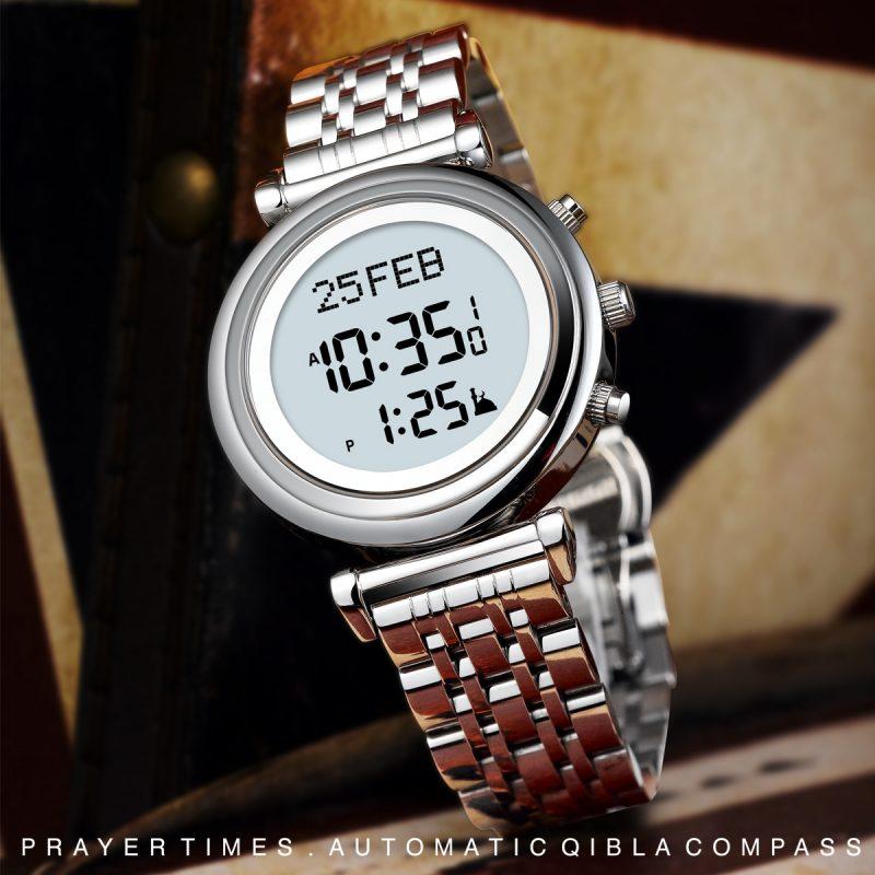 Sapphire glass qibla watch