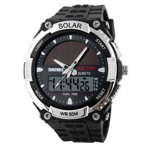 solar analog digital watch