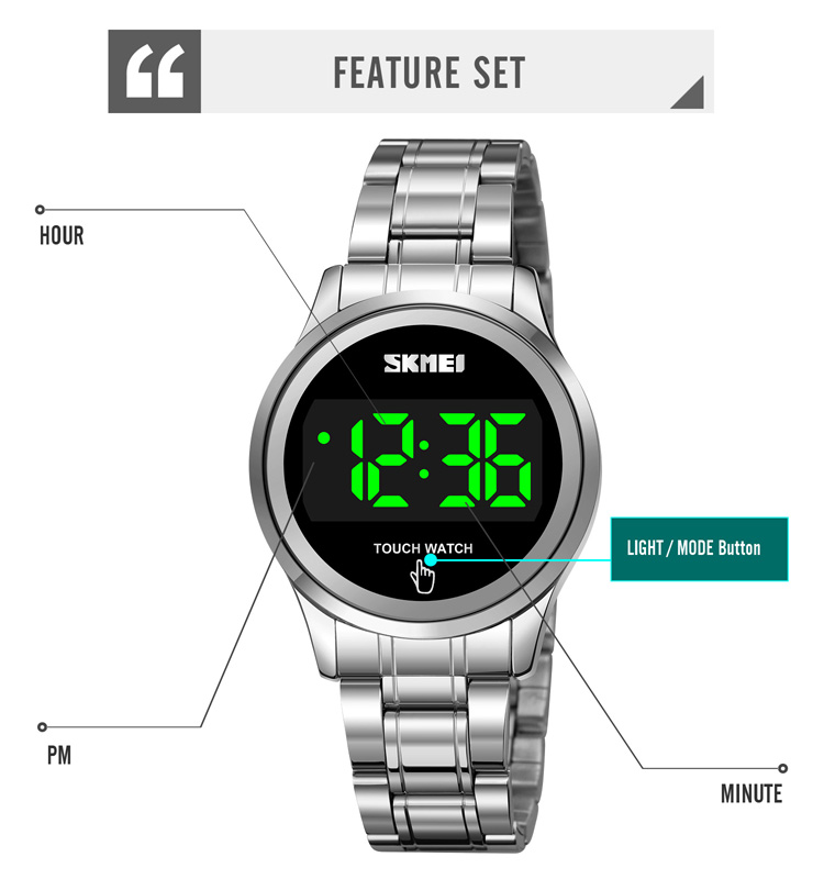LED watch for woman